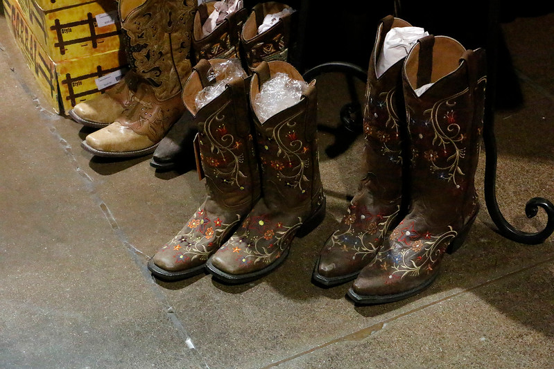Boots and belt buckles find their way to the Larimer County Fair on Friday, August 4, 2017 in the Vendor's Market. (Michelle Risinger/ Loveland Reporter-Herald)