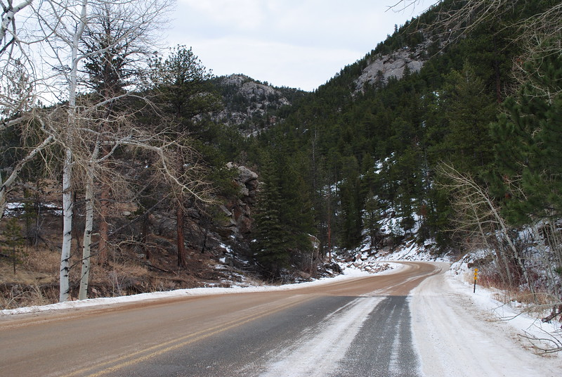 One of the last remaining major road construction projects for permanent repairs after the 2013 flood is County Road 47, which is the main access into Big Elk Meadows between Estes Park and Lyons. The county opened the road with temporary repairs after the flood, and only small sections of remaining pavement hint to the road's condition before the floods. This project is still in the design phase. (Pamela Johnson / Loveland Reporter-Herald0