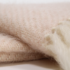 Handwoven Mohair Throw - Blush Pink