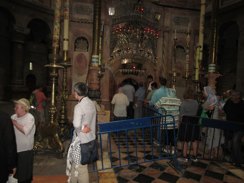 The tomb where Jesus was buried.