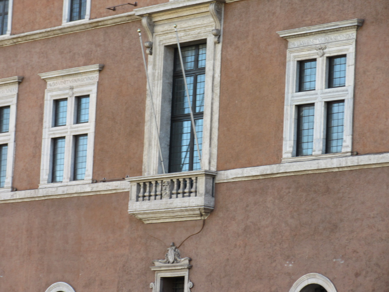 Balcony used often by Benito Mussolini for speeches