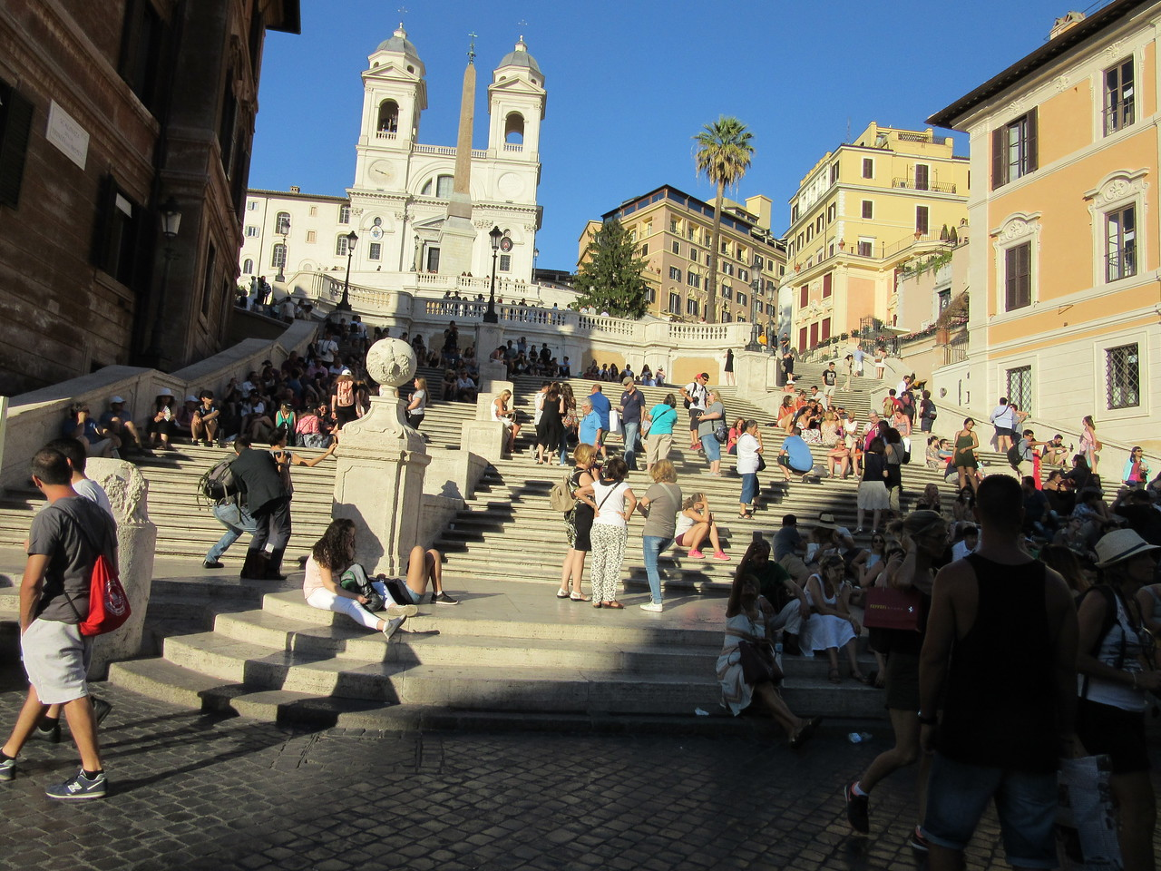 The Spanish Steps.  The Spanish Steps are some of the most romantic steps in the world, and are a site of many selfies and picture perfect moments. Whether you sit and watch the world go by, or bring a picnic, these steps are a great location to rest and recover during a busy day of sightseeing. The 135 steps date back to 1725 and were designed by Franceso de Sanctis and have been an iconic landmark of Rome ever since.
