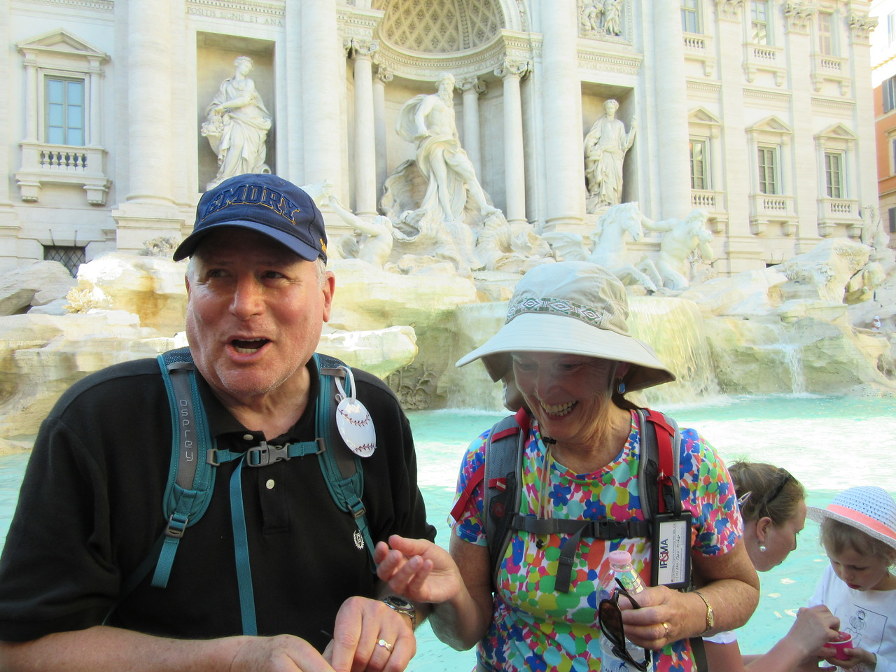 Coin toss into the Trevi Fountain for good luck.