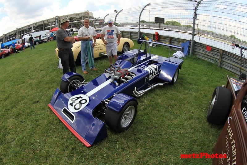 June 2015 at IMS vintage car show, Gary Dausch showing his Mallard.
