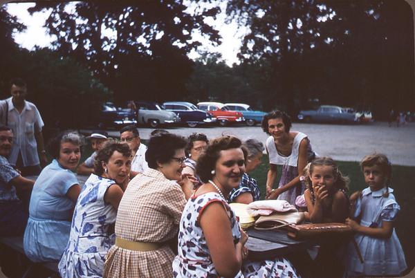 July 21, 1957. Picnic at Wade house. Slide 256.