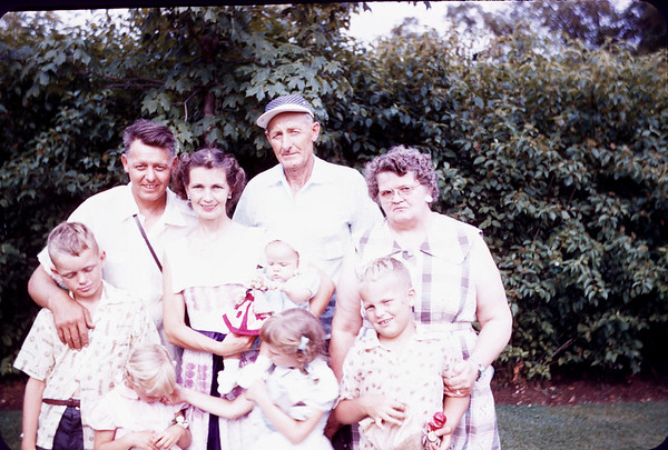 July 21, 1957. J.J & Russel Anderson Families. Slide 261. Gary,