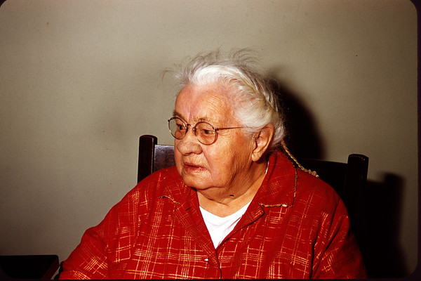 January 1, 1958. Grandma Hoy - Age 94. Slide 321.