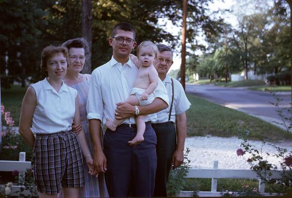 1962. Sandy, Bea, Buster, Ann, & Ben. Slide 62-999