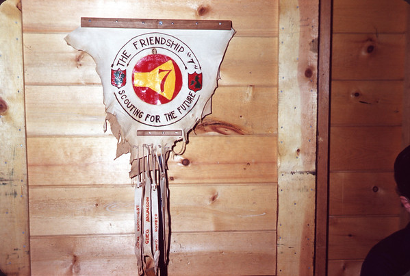 1962 - July 24. Friendship 7 Buckskin Banner. Slide 62-880.