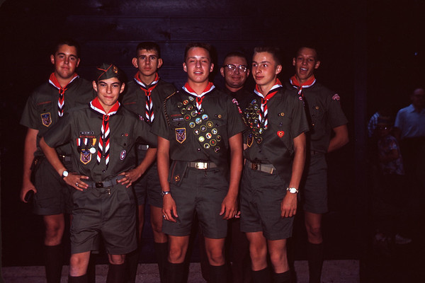 1962 - July 24. Friendship 7 Scout Patrol going to England. Martin, Blaney, Sparks, Anunson, Kaphingst, Larson, & Rohrer. Slide 62-881.