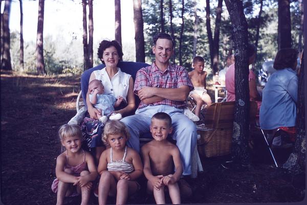 August 11, 1957. David LaStofka family. Hatch Lake. Slide 270.
