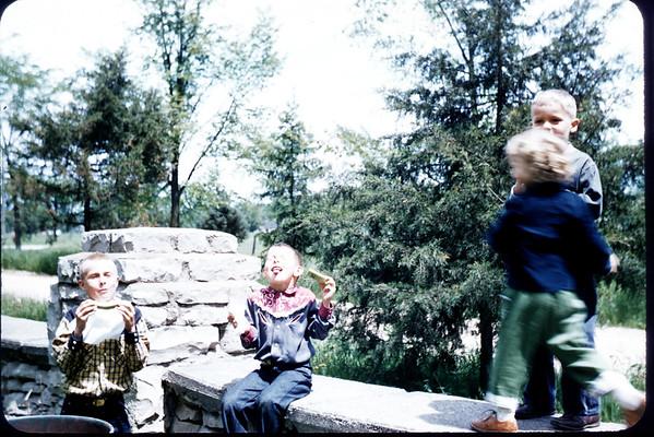 June 2, 2957.  Picnic at Hatton's Park. New London, WI. John Larson, Eric Larson. Slide 192.