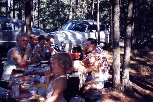 August 11, 1957. LaStofka - Larson Picnic. Hatch Lake. Slide 267.