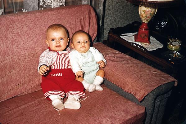 December 5, 1957. Stephen and Dennis. Slide 305