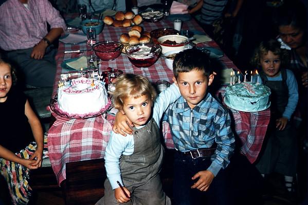 1956 - Slide 123 - Sig, Linda, Eric, Karen. LaSftofka, Larson.