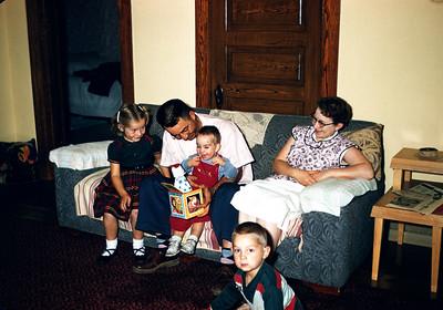 Clifford and Maretta Larson & Family (Chuck, Mark), & Sig.  September 1956.  Slide 126