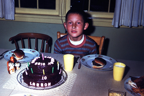 1960. Eric Larson 10th birthday. Slide 60-740.