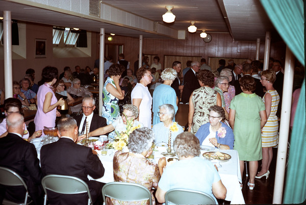June 28, 1970. Group at 50th wedding anniversary.