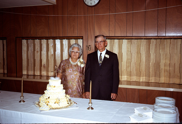 June 28, 1970. Ruth and Clarence Larson. 50th Wedding anniversary.