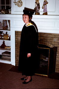 January 25, 1970. Madelyn with M.A. Gown.