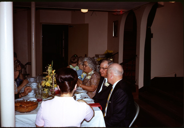 June 28, 1970. Wedding Table.