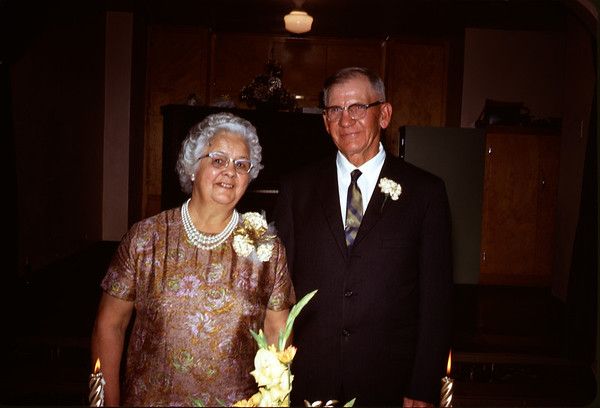 June 28, 1970. Clarence and Ruth Larson at 50th Wedding anniversary.