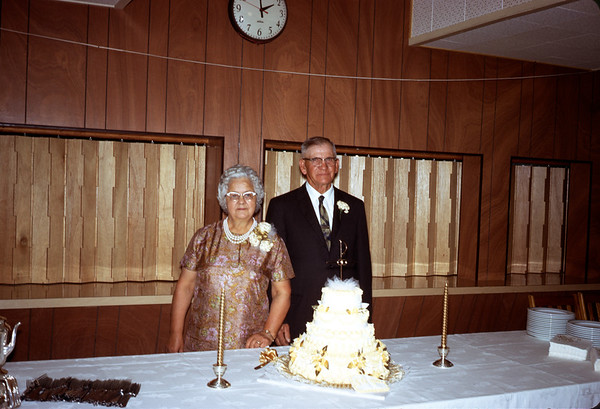 June 28, 1970. Ruth and Clarence Larson 50th Wedding Anniversary.