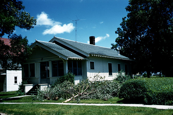 June 18, 1957.  House the Lee's lived in from 1921 through 1929. Roland, Iowa. Slide 217.