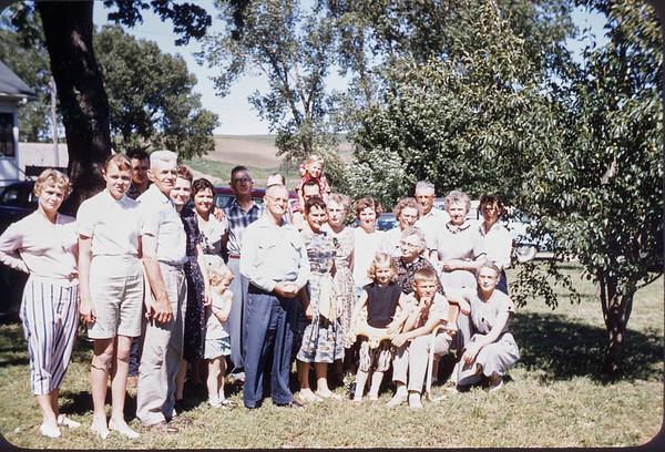 June 20, 1957. Scarvie reunion at Norman's. Slide 231.