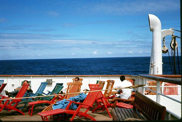 July 1966. Aft deck of the seven seas. Slide 66-1478.