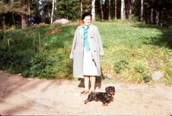 August 1966. Mama and Max. Slide 66-1502.