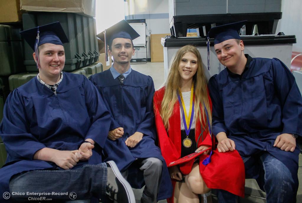. Las Plumas High School graduating class of 2017 commencment ceremony Friday June 9, 2017 at Harrison Stadium in Oroville, California. (Emily Bertolino -- Mercury Register
