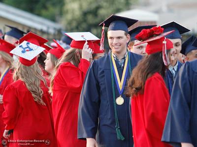 Las Plumas High School graduating class of 2017 commencment ceremony Friday June 9, 2017 at Harrison Stadium in Oroville, California. (Emily Bertolino -- Mercury Register