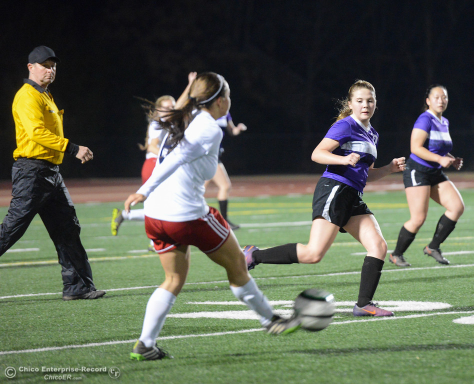 . Cross town rivals Las Plumas and Oroville High boys and girls soccer challenge each other Tuesday January 16, 2018 at Harrison Stadium in Oroville, California. (Emily Bertolino -- Enterprise-Record)