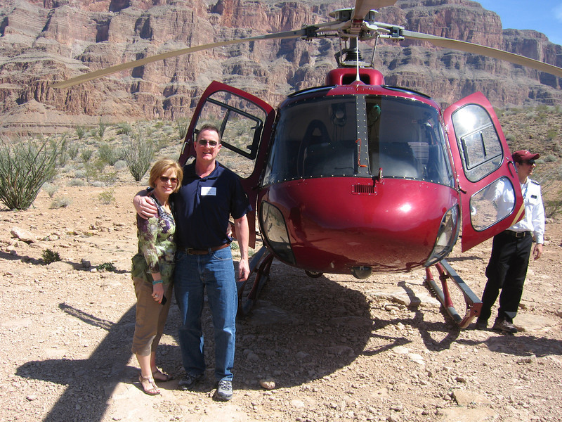 We landed in the Grand Canyon for a champagne lunch.