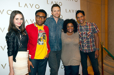 Cast of Community  Joel McHale (character name: Jeff Winger) Danny Pudi (character name: Abed) Donald Glover (character name: Troy) Yvette Nicole Brown (character name: Shirley) Alison Brie (character name: Annie)
