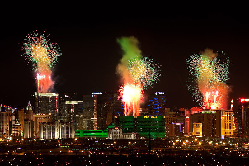 Vegas Fireworks, the start of the show