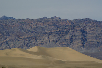 Sand Dunes with Grapevine Mountains in the background.