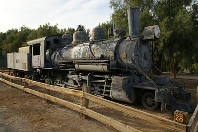 Death Valley RR #2 was the second of two engines for the narrow gauge railroad that hauled borax from the mines to Death Valley Junction between 1916 and 1927.  U.S. Potash returned the engine to Death Valley in 1956 for display at the Borax Museum.