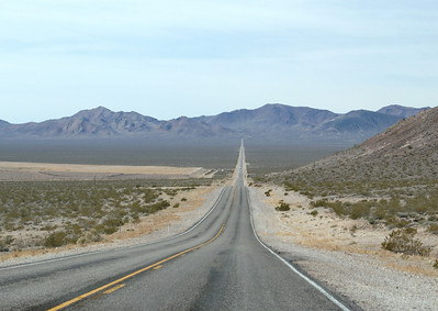 The road to Rhyolite, NV and Death Valley National Park.