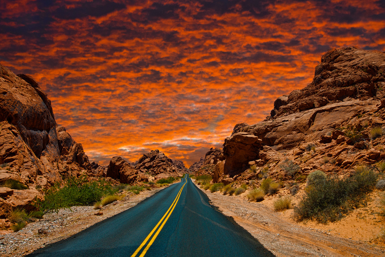 Sunset At The Valley Of Fire, LasVegas