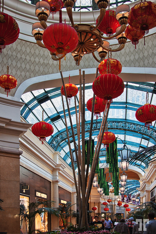 Via Bellagio decorated for the 2015 Chinese New Year, Las Vegas