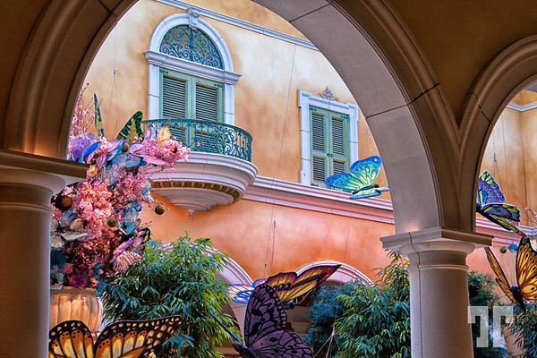 Pastel colors at Bellagio hotel lobby  Las Vegas in 2014  - decorated for spring