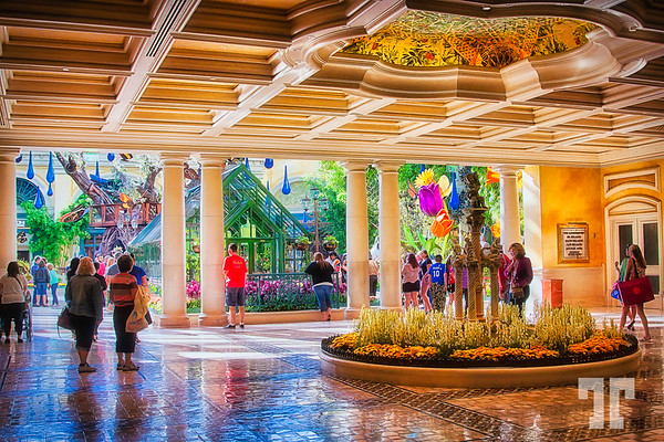 Entering the spring garden from the Bellagio hotel lobby http://vegasgreatattractions.com/bellagio-botanical-garden-spring-2014/