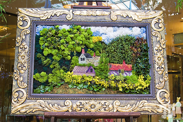 Framed art created with real flowers at the Spring garden at Bellagio Conservatory Hotel, Las Vegas in 2014 http://vegasgreatattractions.com/bellagio-botanical-garden-spring-2014/
