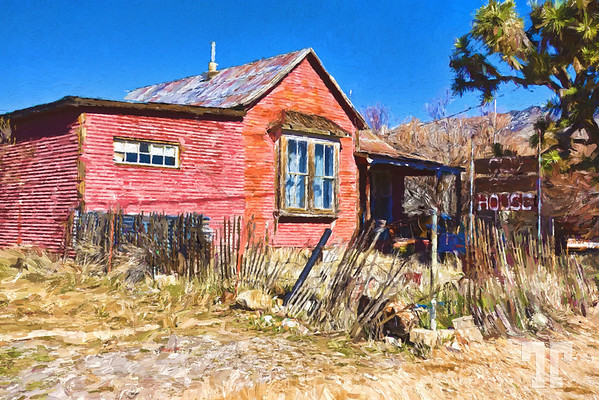 old-red-house-chloride-arizona-route66-Painting