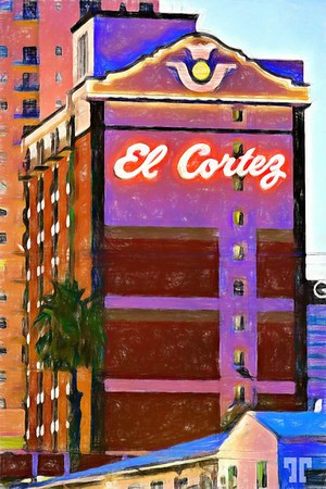 el-cortez-hotel-sign-downtown-las-vegas-2-digital-paint-1-COLORED-PENCIL