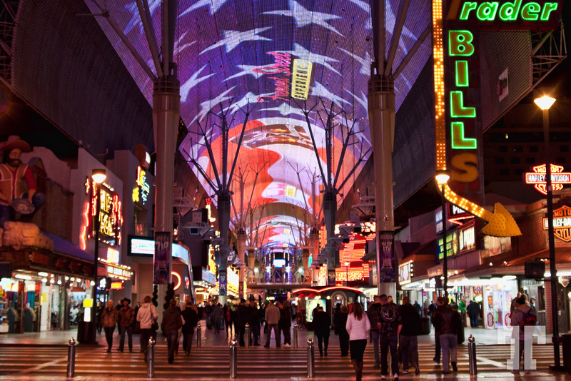 Fremont Street Experience, Las Vegas at night