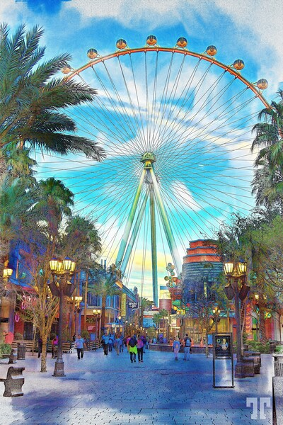 high-roller-linq-promenade-vegas-night-2mod2-ColoredPencil-mix-large