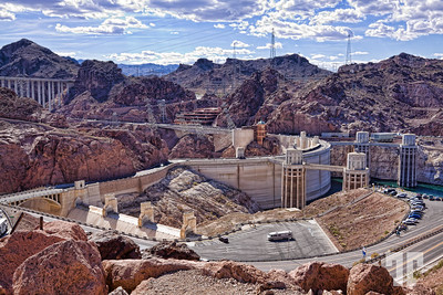 Perspective of Hoover Dam area